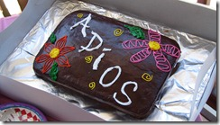 PS Party Adios cake