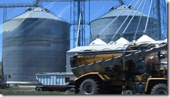 Silos and truck