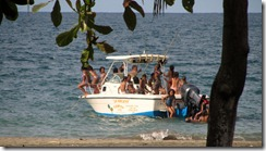 Ticos on boat