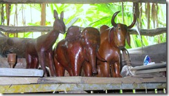 Wood carvings at office