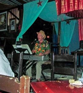Jimmy Mac at the piano